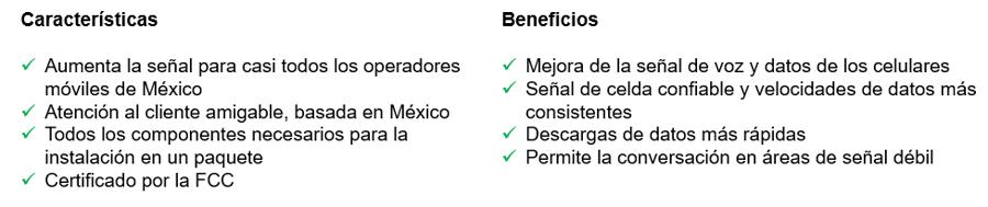 WeBoost beneficios